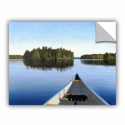 ArtApeelz Paddle Muskoka by Ken Kirsh Photographic Print on Canvas Size: 18