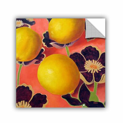ArtApeelz Lemons On Persimmon by Marina Petro Painting Print on Canvas Size: 14