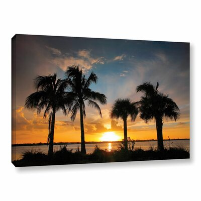 Tropical Sunset by Steve Ainsworth Photographic Print on Gallery Wrapped Canvas Size: 24