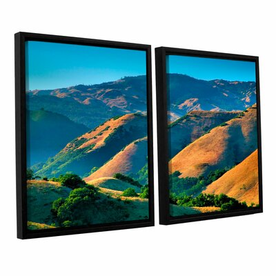 Golden Hills by Steve Ainsworth 2 Piece Floater Framed Photographic Print on Canvas Set Size: 32
