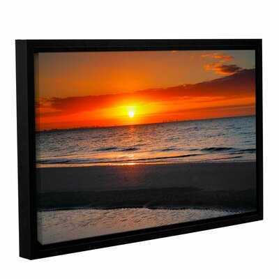 Sunrise Over Sanibel by Steve Ainsworth Floater Framed Photographic Print on Gallery Wrapped Canvas Size: 24
