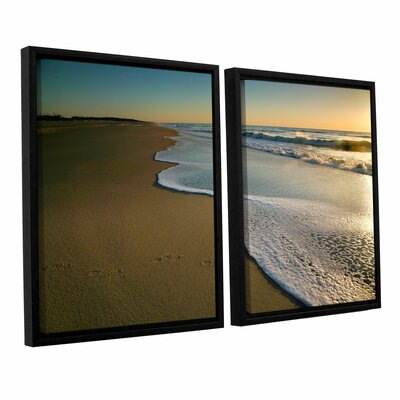Surf And Sand by Steve Ainsworth 2 Piece Floater Framed Photographic Print on Canvas Set Size: 32