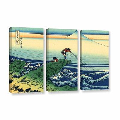 Kajikazawa in Kai Province by Katsushika Hokusai 3 Piece Graphic Art on Wrapped Canvas Set