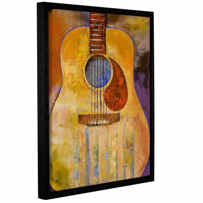 Acoustic Guitar by Michael Creese Framed Painting Print on Wrapped Canvas 0cre001a1824f
