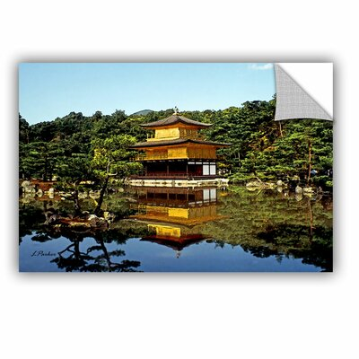 ArtApeelz Kyoto'S Golden Pavilion by Linda Parker Painting Print on Canvas Size: 32
