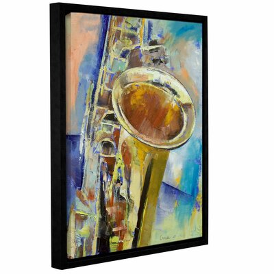 Saxaphone by Michael Creese Floater Framed Painting Print on Gallery Wrapped Canvas Size: 36