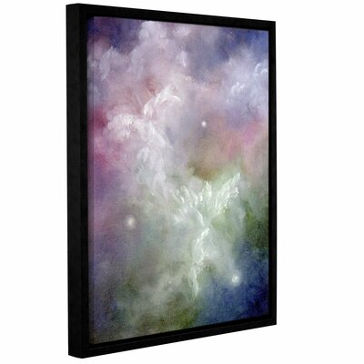 Dancing Angels by Marina Petro Floater Framed Painting Print on Gallery Wrapped Canvas Size: 24