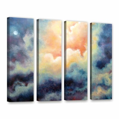In The Pink by Marina Petro 4 Piece Painting Print on Gallery Wrapped Canvas Set Size: 36