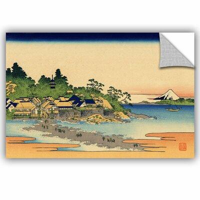 ArtApeelz Enoshima in the Sagami Province by Katsushika Hokusai Painting Print Size: 12