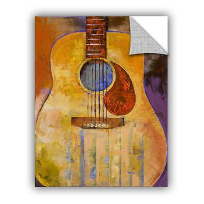 ArtApeelz Acoustic Guitar by Michael Creese Painting Print on Canvas 0cre001a1418p