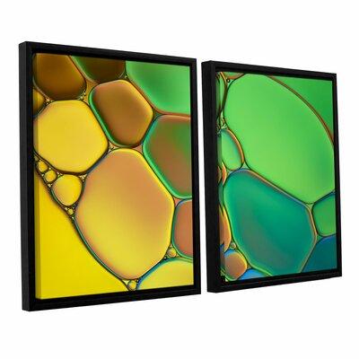 'Stained Glass III' by Cora Niele 2 Piece Framed Graphic Art Set 0nie074b2436f