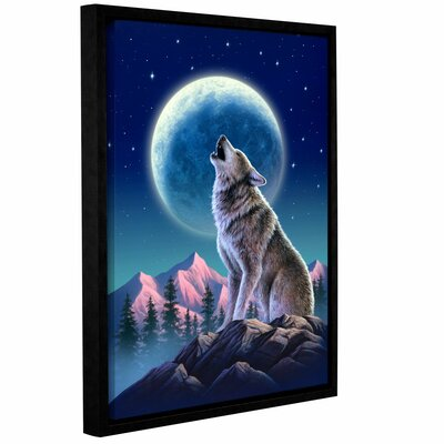 'Wolf Moon' by Jerry Lofaro Framed Graphic Art on Wrapped Canvas Size: 24