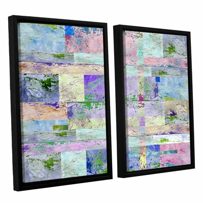 'Abstract I' by Greg Simanson 2 Piece Framed Graphic Art on Wrapped Canvas Set 0sim033b2432f