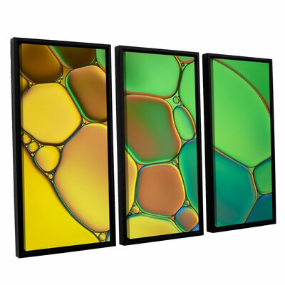 'Stained Glass III' by Cora Niele 3 Piece Framed Graphic Art Set 0nie074c3654f