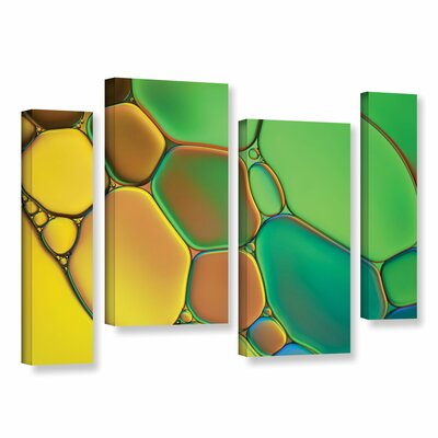 'Stained Glass III' by Cora Niele 4 Piece Graphic Art on Wrapped Canvas Set 0nie074i2436w
