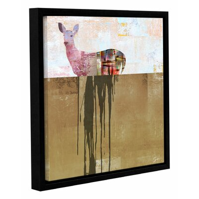'Dissolve I' by Greg Simanson Framed Painting Print on Wrapped Canvas Size: 14
