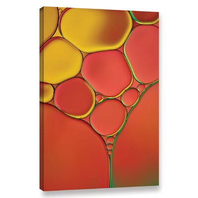 'Stained Glass II' by Cora Niele Graphic Art on Wrapped Canvas 0nie072a1218w