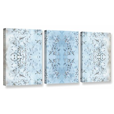 "'Wallpaper III' by Cora Niele 3 Piece Graphic Art on Wrapped Canvas Set Size: 18"" H x 36"" W x 2"" D 0nie081c1836w"