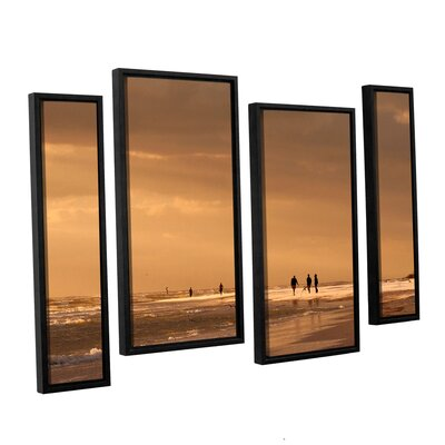 Walkers Siesta Key by Lindsey Janich 4 Piece Floater Framed Photographic Print on Canvas Staggered Set Size: 24