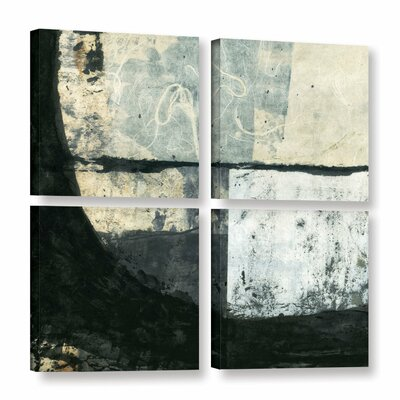 "Black Ink by Elena Ray 4 Piece Graphic Art on Wrapped Canvas Set Size: 48"" H x 48"" W 0ray107e4848w"
