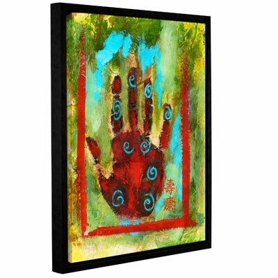 "Buddhist Palm by Elena Ray Framed Painting Print on Wrapped Canvas Size: 14"" H x 18"" W 0ray118a1418f"