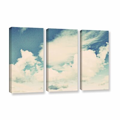 Clouds on a Beautiful Day by Elena Ray 3 Piece Painting Print on Wrapped Canvas Set 0ray124c3654w