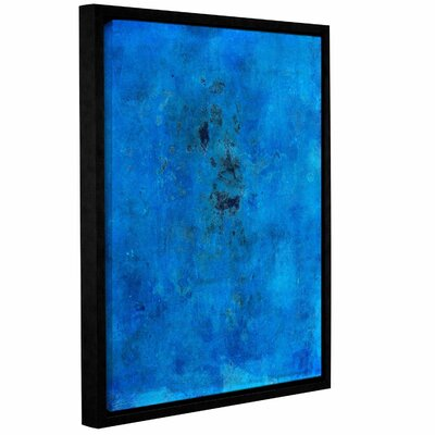 Blue Grunge by Elena Ray Framed Painting Print on Wrapped Canvas 0ray110a0810f
