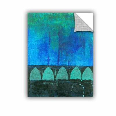 Blue-Green Abstract by Elena Ray Painting Print 0ray111a1824p