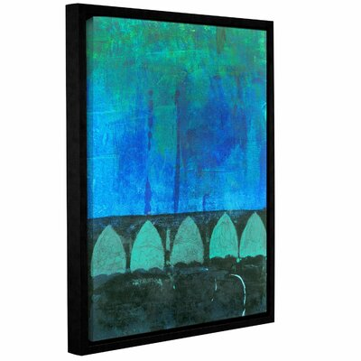 Blue-Green Abstract by Elena Ray Framed Painting Print on Wrapped Canvas 0ray111a1418f
