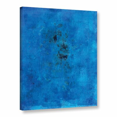 Blue Grunge by Elena Ray Painting Print on Wrapped Canvas 0ray110a1418w