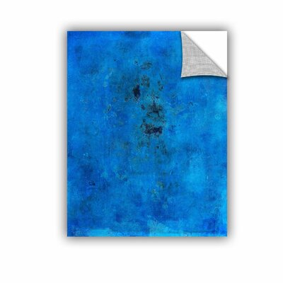 "Blue Grunge by Elena Ray Removable Painting Print Size: 14"" H x 18"" W 0ray110a1418p"
