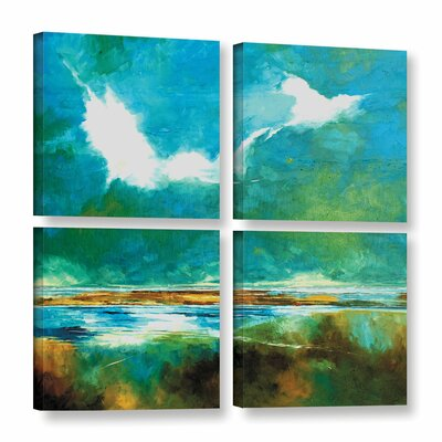Seascape II 4 Piece Painting Print on Wrapped Canvas Set