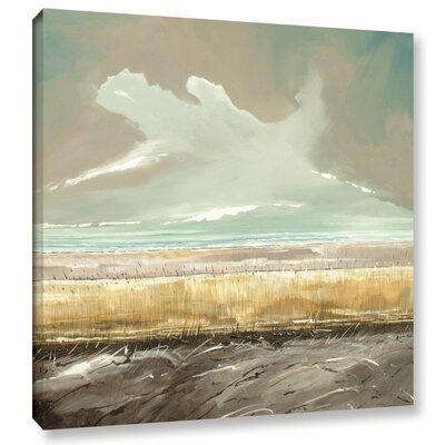 Reeds And Sky II Painting Print on Wrapped Canvas Size: 14