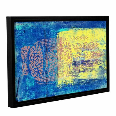 Blue with Stencils by Elena Ray Framed Painting Print on Wrapped Canvas 0ray061a1218f