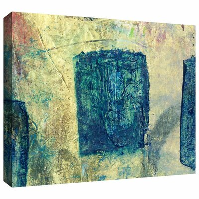 Blue Golds by Elena Ray Painting Print on Wrapped Canvas 0ray058a0612w