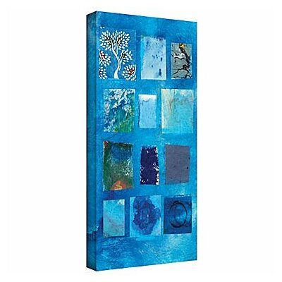 Blue Tree Collage by Elena Ray Painting Print on Wrapped Canvas 0ray060a1224w