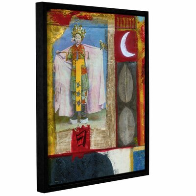 "Chinese Moon Queen by Elena Ray Framed Painting Print on Wrapped Canvas Size: 18"" H x 14"" W 0ray065a1418f"