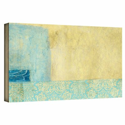 Gold and Blue Banner by Elena Ray Painting Print on Wrapped Canvas 0ray070a1224w