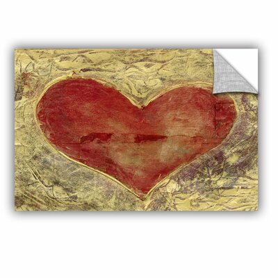Red Heart Of Gold by Elena Ray Painting Print 0ray086a1218p