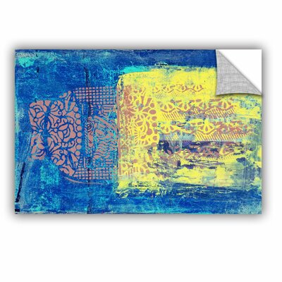 "Blue With Stencils by Elena Ray Painting Print Size: 12' H x 18"" W 0ray061a1218p"