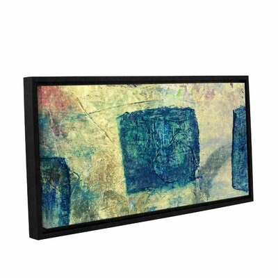 "Blue Golds by Elena Ray Framed Painting Print on Wrapped Canvas Size: 18"" H x 36"" W 0ray058a1836f"