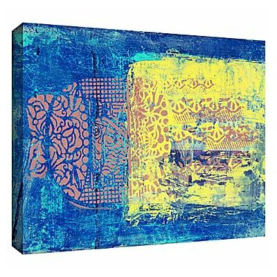 Blue With Stencils by Elena Ray Painting Print on Wrapped Canvas 0ray061a1218w