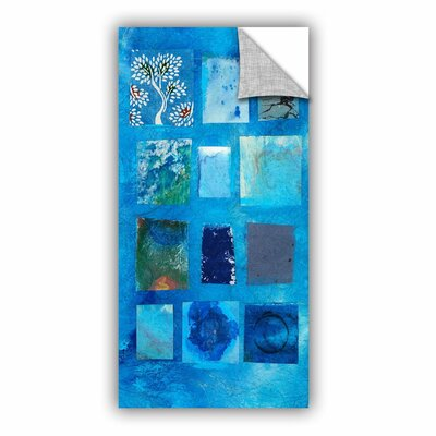 Blue Tree Collage by Elena Ray Removable Painting Print 0ray060a1224p