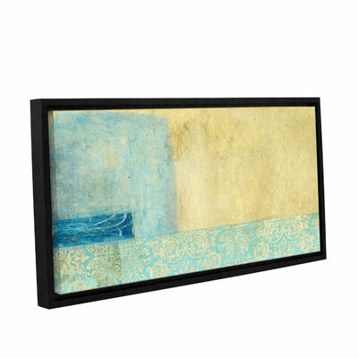 Gold and Blue Banner by Elena Ray Framed Painting Print on Wrapped Canvas 0ray070a0612f