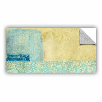 Gold And Blue Banner by Elena Ray Removable Painting Print 0ray070a1224p