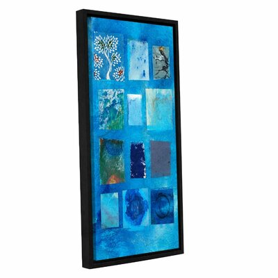 "Blue Tree Collage by Elena Ray Framed Painting Print on Wrapped Canvas Size: 12"" H x 24"" W 0ray060a1224f"