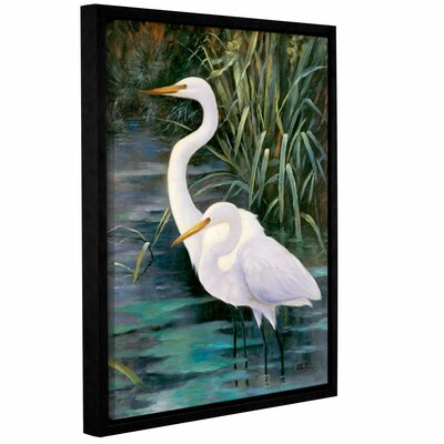 Robertson Snowy Egrets II Framed Photographic Print on Canvas