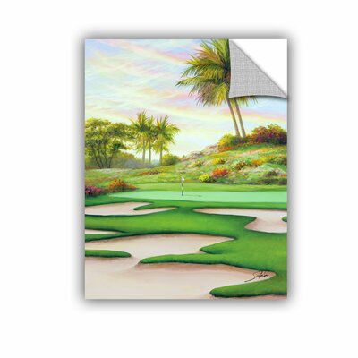 """#8 Bunkers At Emeral Dunes Wall Mural Size: 18"""" H X 14"""" W X 0.1"""" D"""