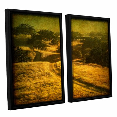 Ranch Road and Oak Savanah 2 Piece Framed Painting Print Set