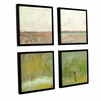 'Landscape II' 4 Piece Framed Painting Print Set Size: 36